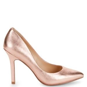 CHARLES by CHARLES DAVID Rose Gold Leather Heels
